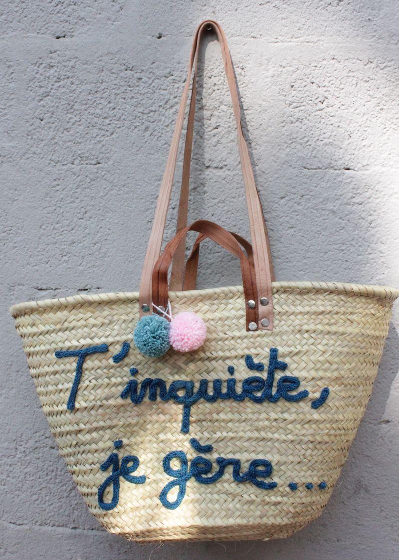 l 39 atelier des petites bauloises panier t 39 inqui te je g re so cute basket bag bags et. Black Bedroom Furniture Sets. Home Design Ideas