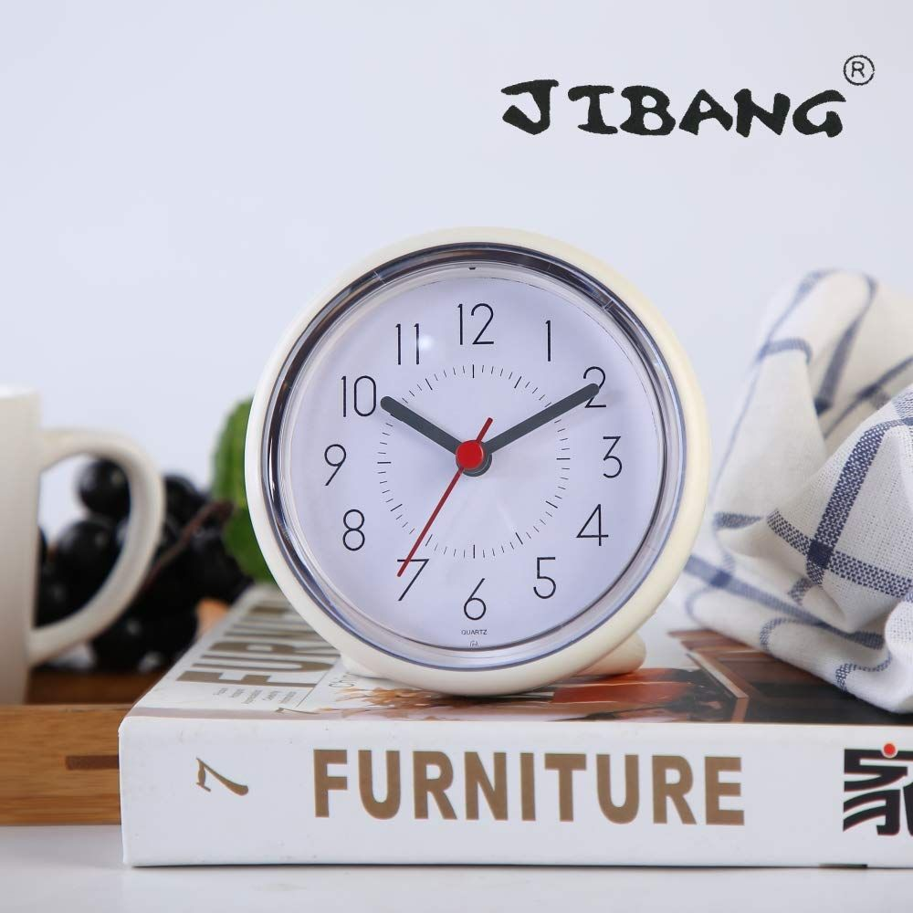 Jibang Suctioncup Waterproof Bathroom Clock Desktop Clocks For