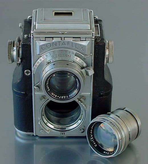 Zeiss Ikon produced the Contaflex, a 35mm TLR with