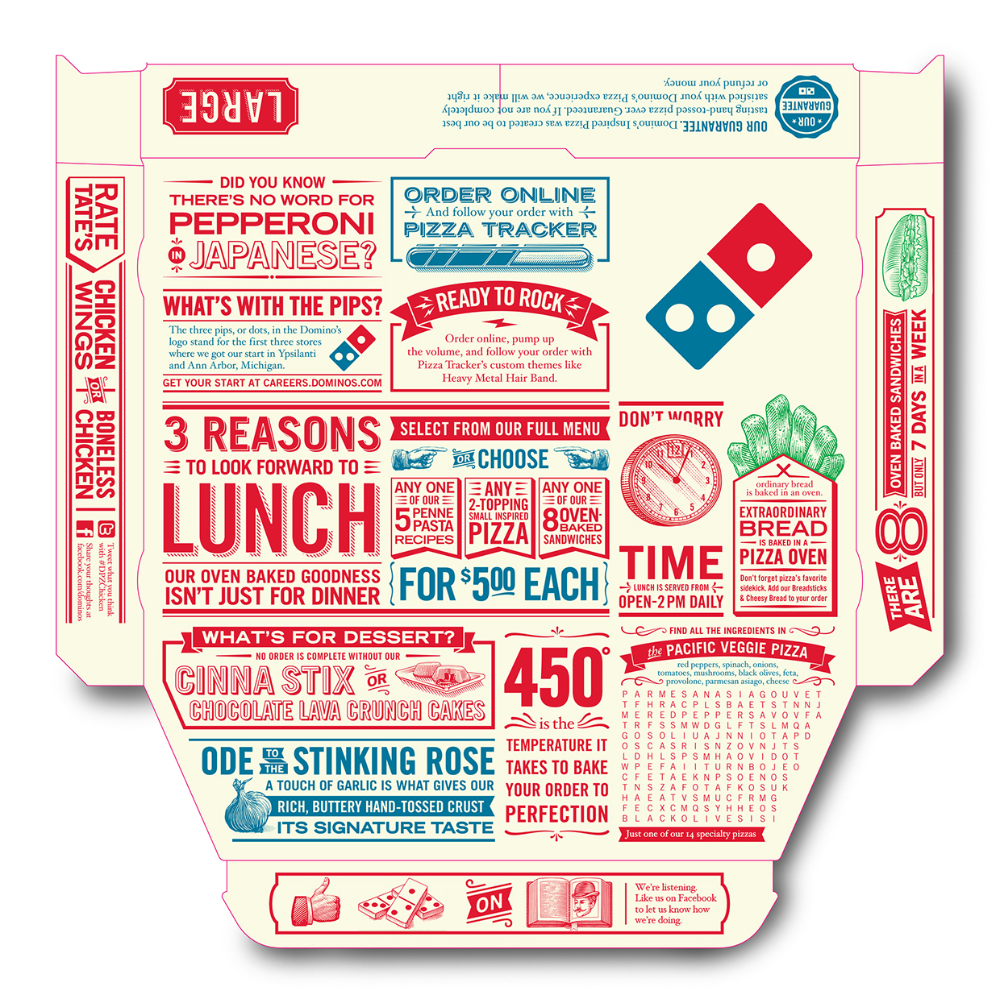 50 Projects You Shouldn T Miss In 2015 On Packaging Of The World Creative Package Design Gallery Dominos Pizza Pizza Box Design Pizza Branding