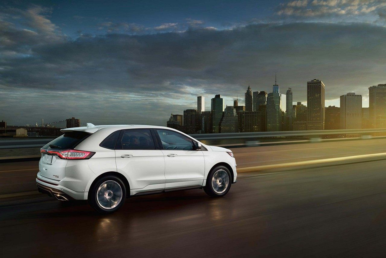 2018 Edge Sport in White Platinum Metallic TriCoat Ford