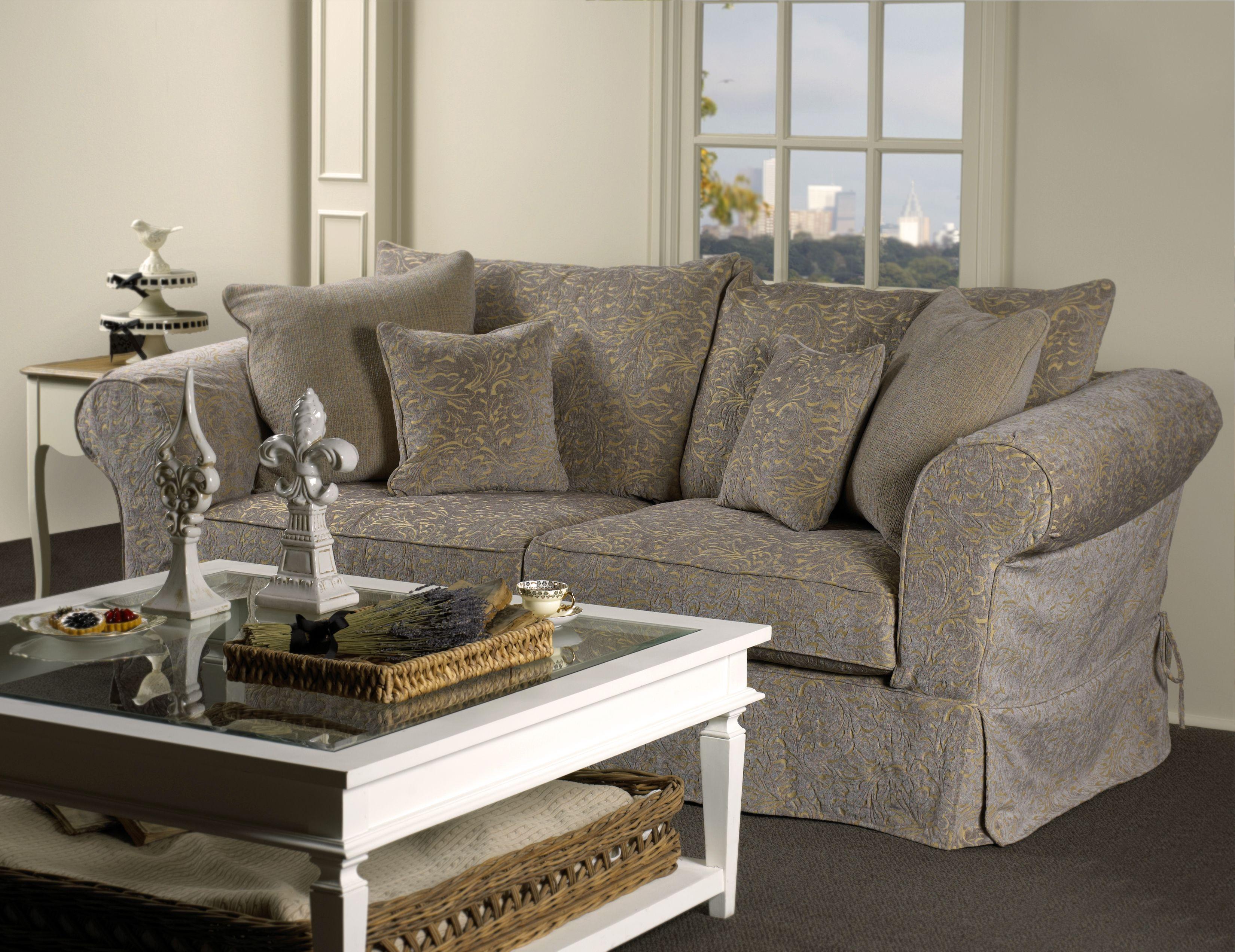 9043 Slipcover Sofa In Avanti U0026 Vega Goldenrod Fabric #frenchcountry  Http://www