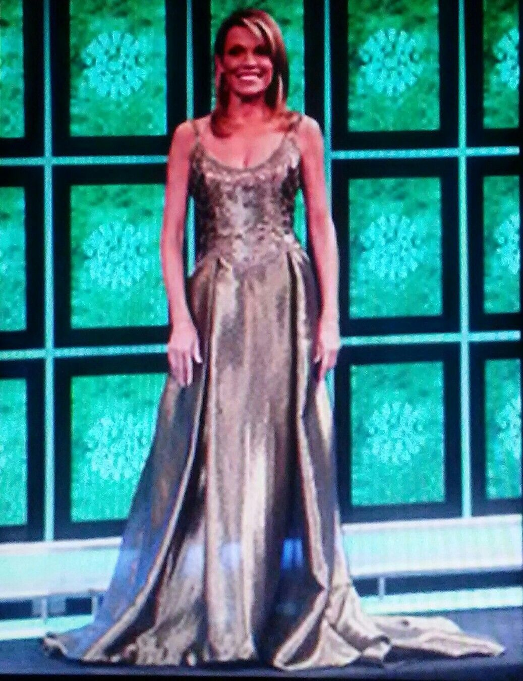 Vanna White Wearing A Gold Ball Gown On Thursday, December 4, 2008 ...