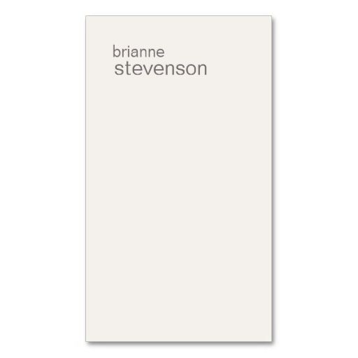 Modern and minimalistic off white business card make your own modern and minimalistic off white business card make your own business card with this great colourmoves