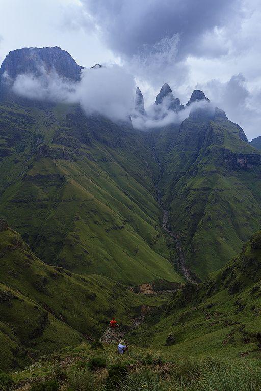 Mweni pass, Northern Drakensberg.   by Carl Smorenburg.