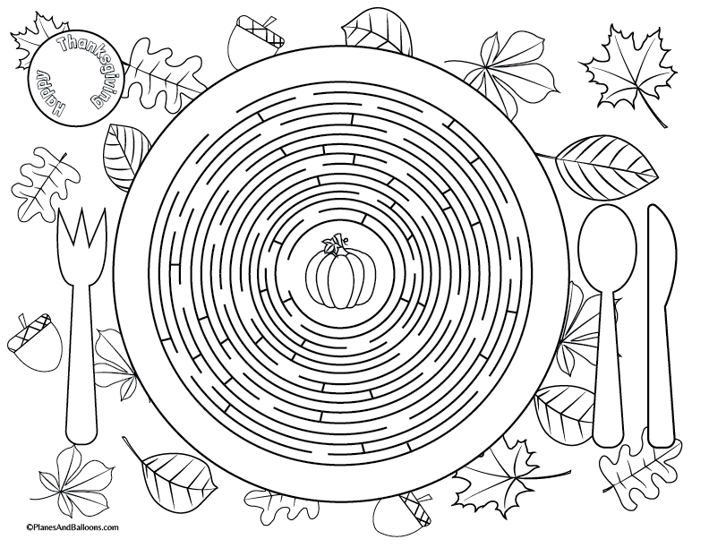 Printable Thanksgiving Placemats For Kids To Solve And Color Thanksgiving Placemats Free Thanksgiving Printables Thanksgiving Printables