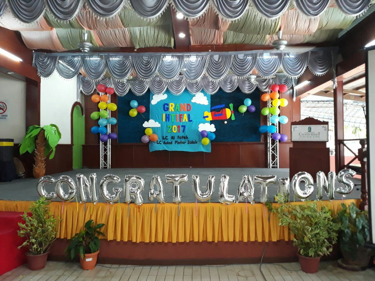 Stage Decoration By Af Cilik Team With Images Stage