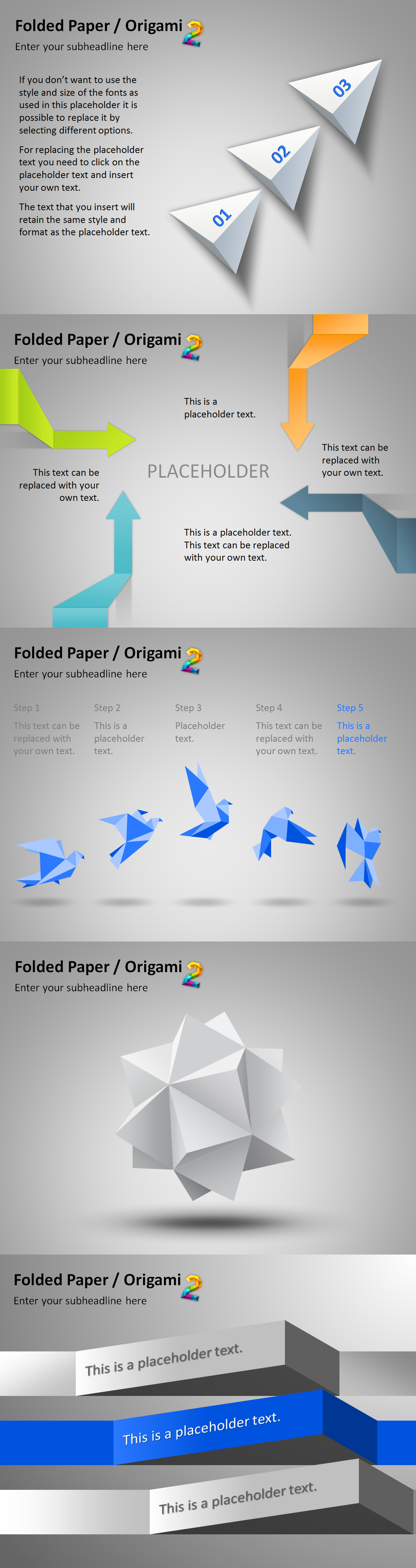 Download these amazing powerpoint templates in japanese origami download these amazing powerpoint templates in japanese origami style to create stunning business toneelgroepblik Images