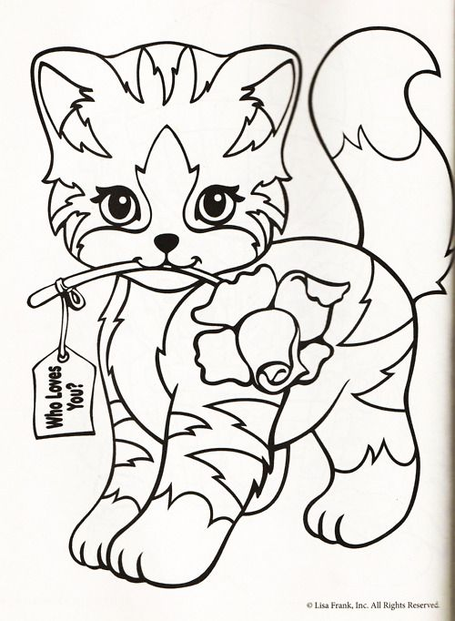 Lisa Frank Coloring Page Cat Coloring Page Coloring Pages