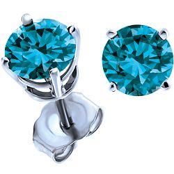 87c4754699526 Ben Moss Jewellers 0.70 Carat TW, 14k White Gold Enhanced Blue ...