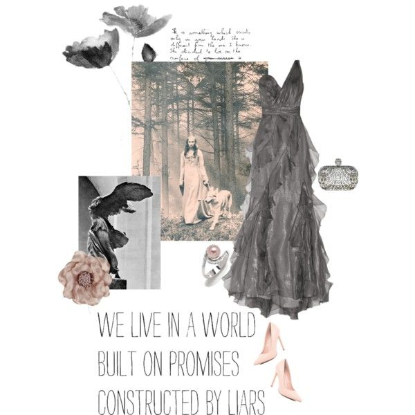lady wolf by summersdream on Polyvore featuring Badgley Mischka, River Island, Other and Bellagio