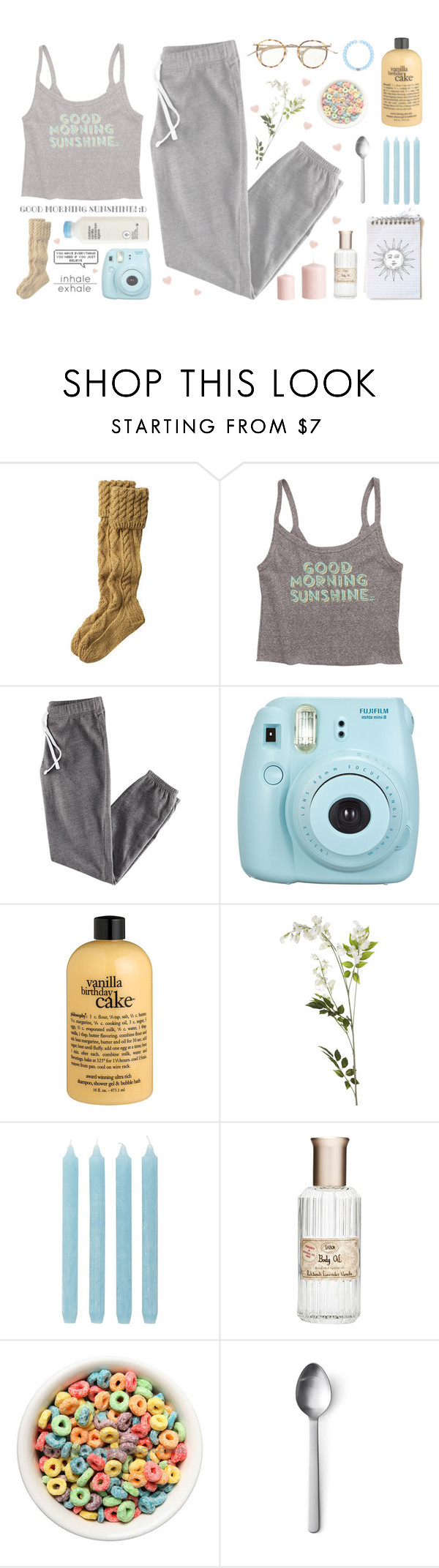 """""""Good Morning Sunshine"""" by franchesca-29 ❤ liked on Polyvore featuring Toast, Billabong, H&M, philosophy, OKA, Pier 1 Imports and Menu"""