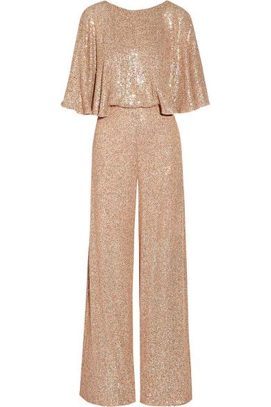 Stardust Sequined Chiffon Jumpsuit Temperley Zip And Silk