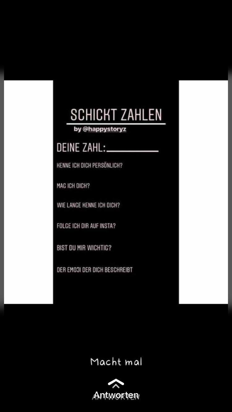 Zahl Schickt Zahlen Whatsapp Story Schwarz Weiss Zahlen