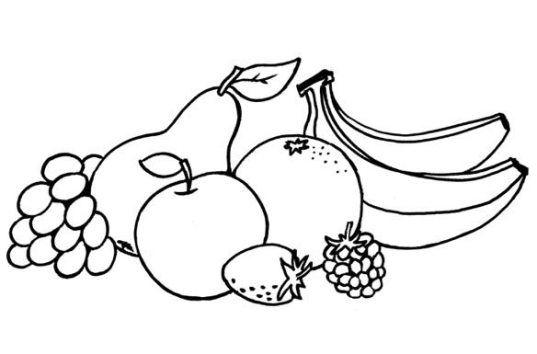Ausmalbilder Früchte Ausdrucken 1 Kindergarten Coloring Books
