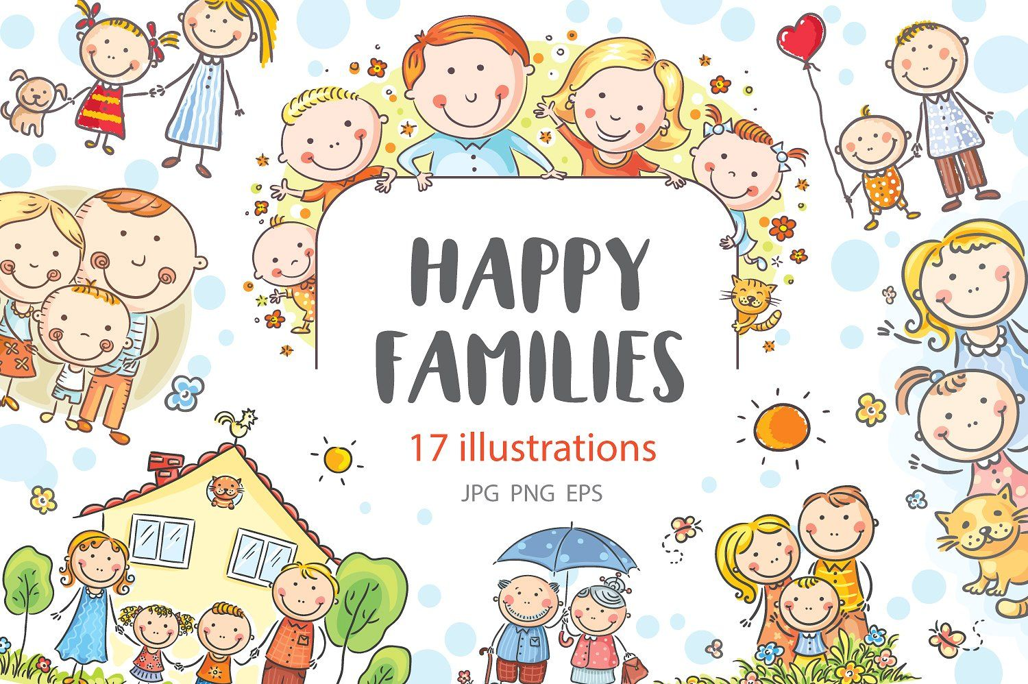 Happy Family PNG - Happy Family Cartoon, Happy Family Of Four, Happy Family  Drawing. - CleanPNG / KissPNG