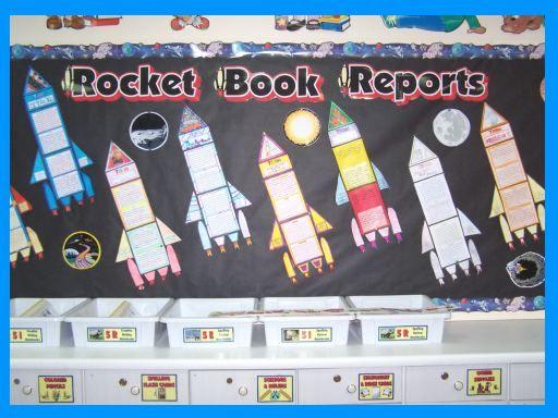 Rocket Book Report Project Templates Worksheets Grading Rubric
