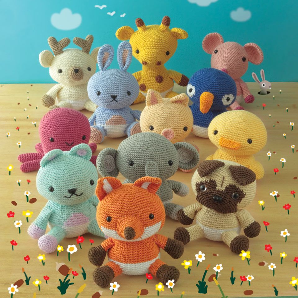 DMC Amigurumi book available in English, Spanish and French. 12 patterns by Lalala Toys.