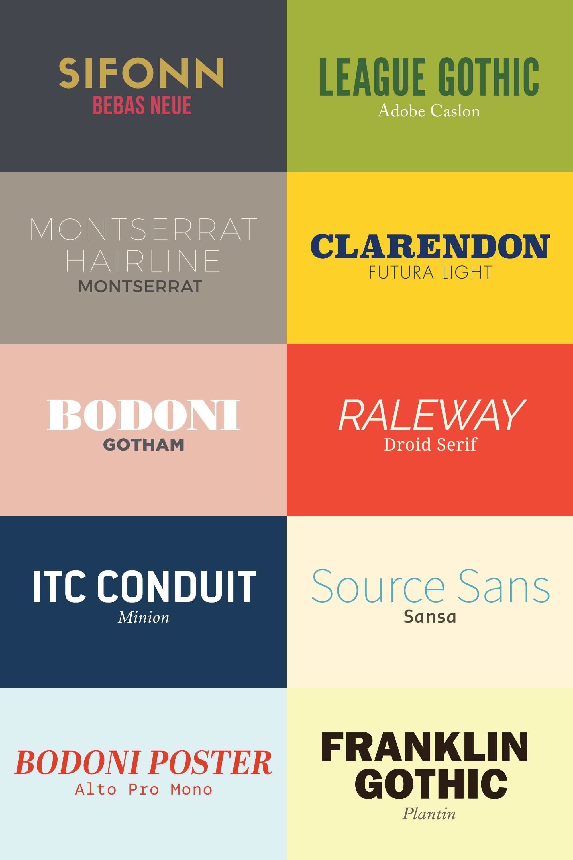10 Font Pairs For Graphic Designers Cool Fonts Graphic Design Graphic Design Logo
