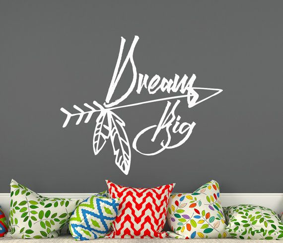 Dream Big Wall Decals Boho Arrows Quote Bedroom Stickers Nursery Vinyl  Stickers Bohemian Decor Cm X 44 Cm) (affiliate)