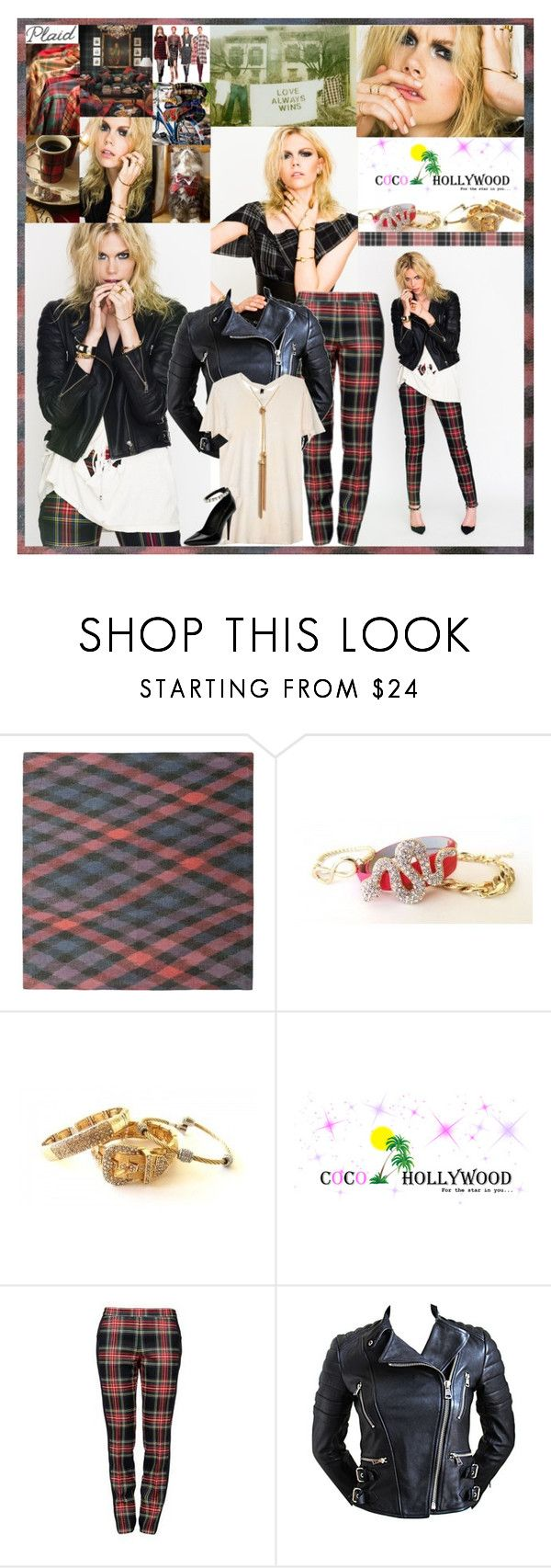 """Love is the bridge between you and everything."" by leannesugarplum ❤ liked on Polyvore featuring basik 855, Moschino, CÉLINE, Giuseppe Zanotti, Gatsby, plaid, edgy, jewelery and cocohollywood"
