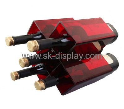 Custom acrylic wine bottle display rack wine display rack wine display stand WD-059