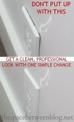 Swap your outlet covers with jumbo outlet covers  is part of Diy home repair, Home repair, Home improvement projects, Home upgrades, Home repairs, Home fix - And avoid that weird messy gap