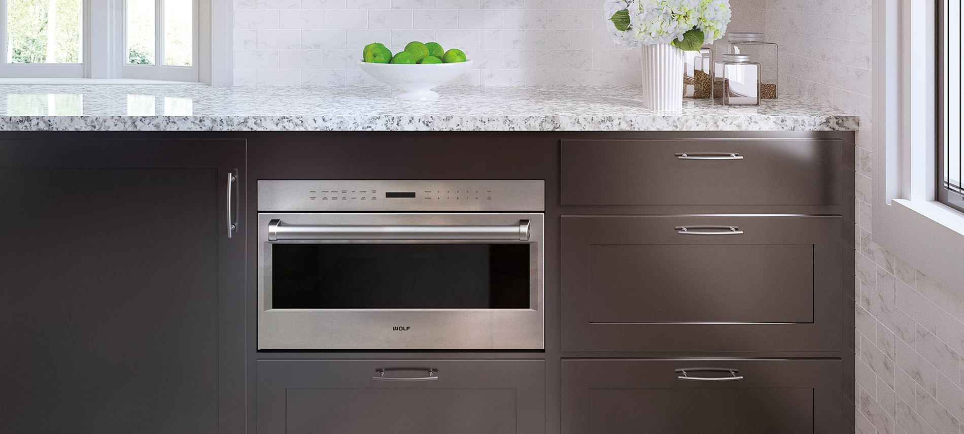 Wolf 30 E Series Professional Drop Down Door Microwave Oven