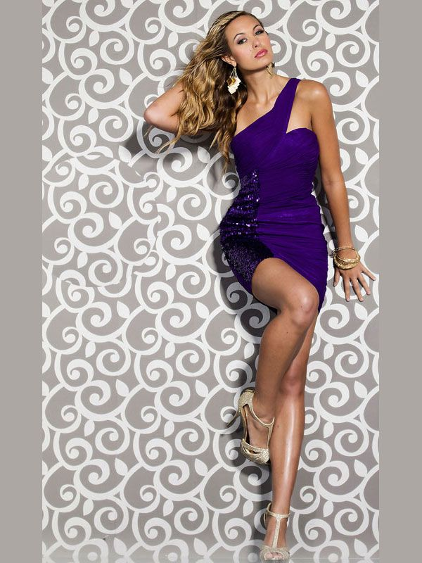 Tight Purple Homecoming Dresses