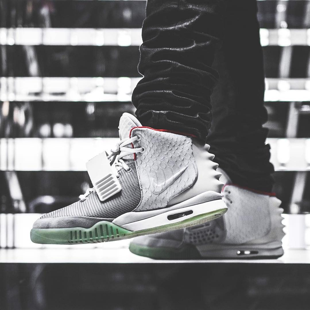 Nike Air Yeezy 2 Pure Platinum Sneakers Shoes Outfit Sneakers Outfit Mens Streetwear