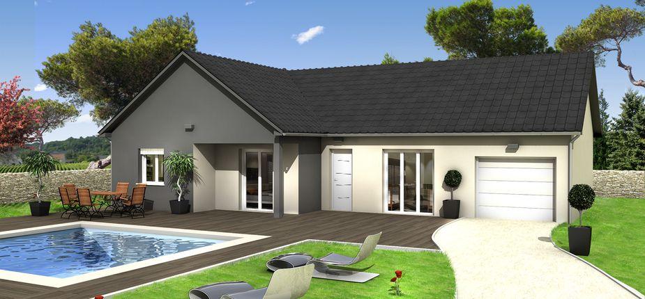 Le modèle TAMARIN Ardoise Ce modèle de plain-pied en  - modele de construction maison