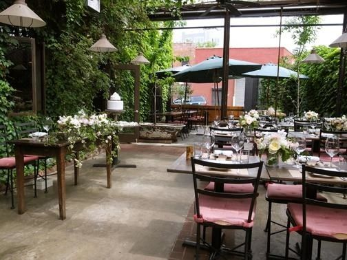Aurora Williamsburg Brooklyn Outdoor Seating Italian Restaurants Brunch Wedding