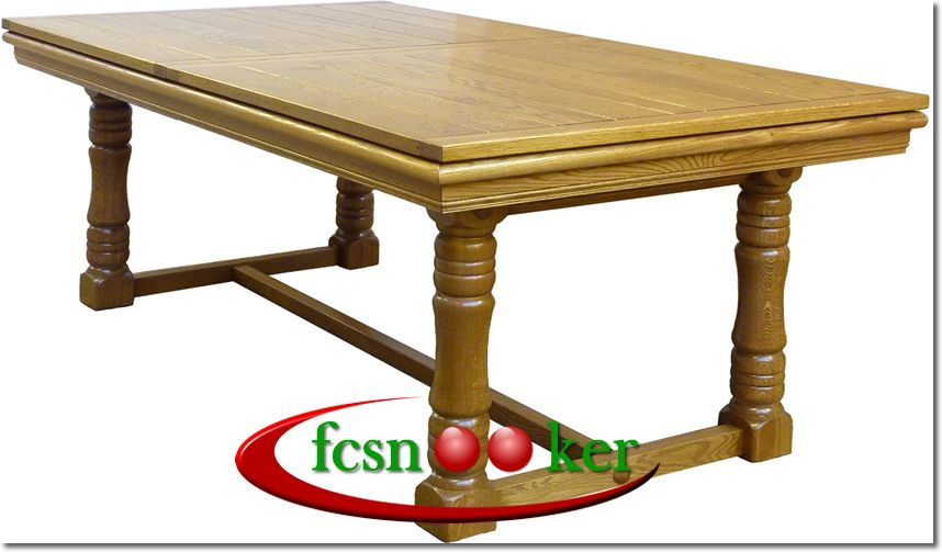 Fcsnooker Presents The Tournament Range Of Hand Made Convertible - 6 foot pool dining table