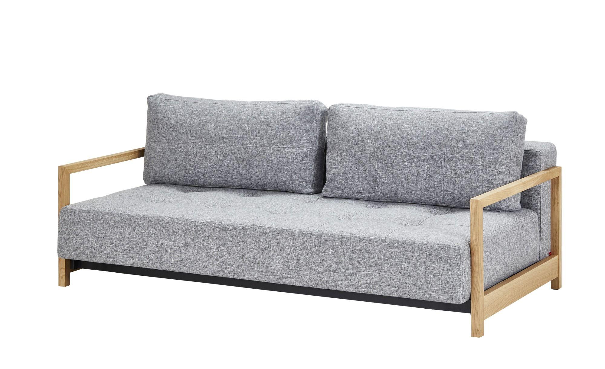 Design Schlafsofa Grau Webstoff Akkito In 2019 Outdoor Sofa