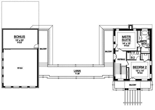 House Plan 5445 00033 Contemporary Plan 2 728 Square Feet 2 Bedrooms 2 Bathrooms House Plans 2 Bedroom House Plans Floor Plans