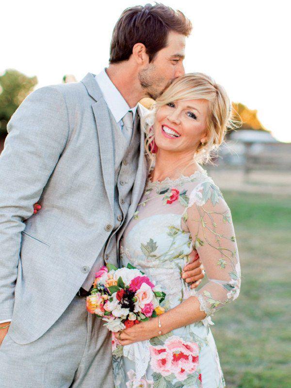 Jennie Garth Jennie Garth Wedding Dress Couture Celebrity Weddings