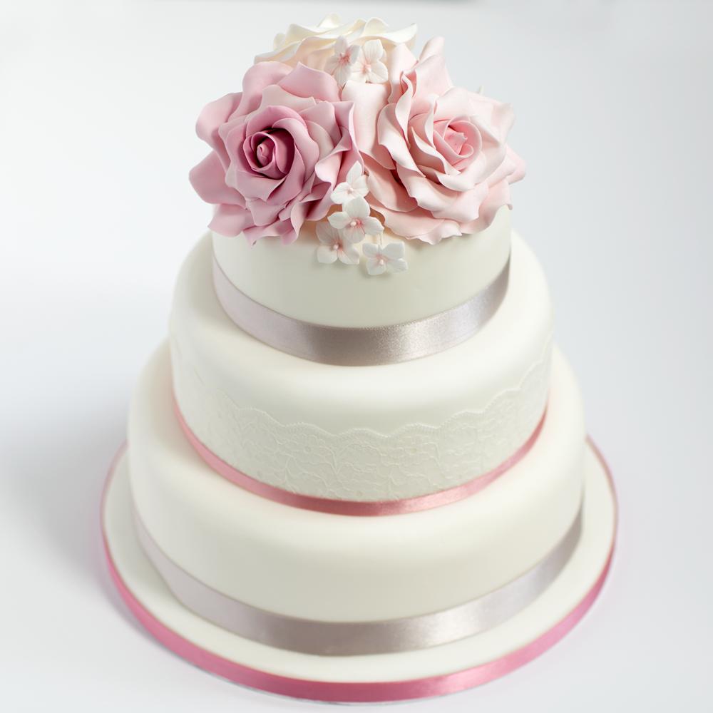 Three tier sponge wedding cake | Recipe | Fruit cakes, Wedding cake ...