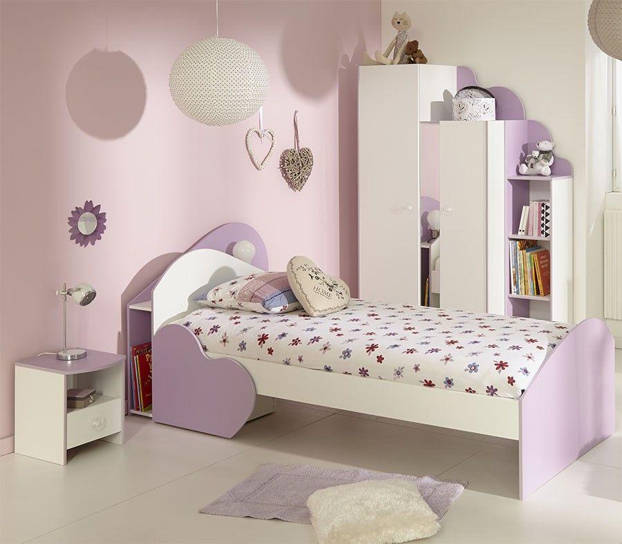 Chambre enfant complète couleur rose et blanc MAMZEL | Chambre ...