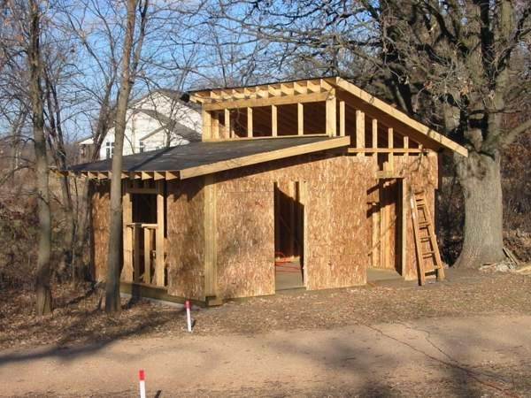 Shed roof cabin plans google search tiny cabin Small shed roof house plans