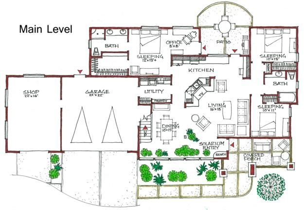 House Plan 192 00020 Ranch Plan 2 036 Square Feet 3 Bedrooms 2 Bathrooms Passive Solar Homes Passive Solar House Plans Energy Efficient House Plans