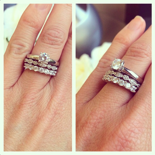 Two Bands Are Better Than One Stack Em Up Bridal Sets