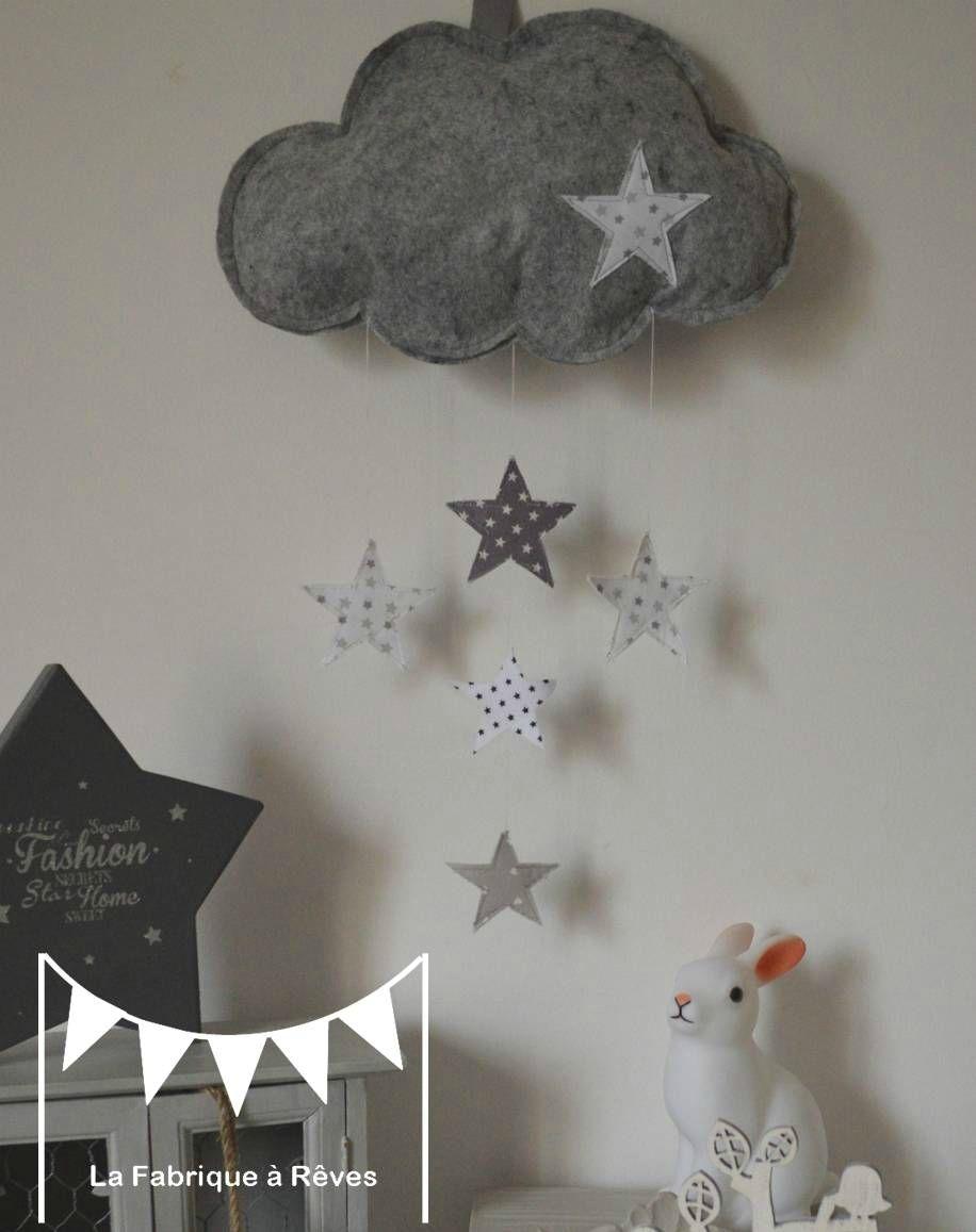 DIY PAR LOU mobile suspension nuage étoiles décoration chambre