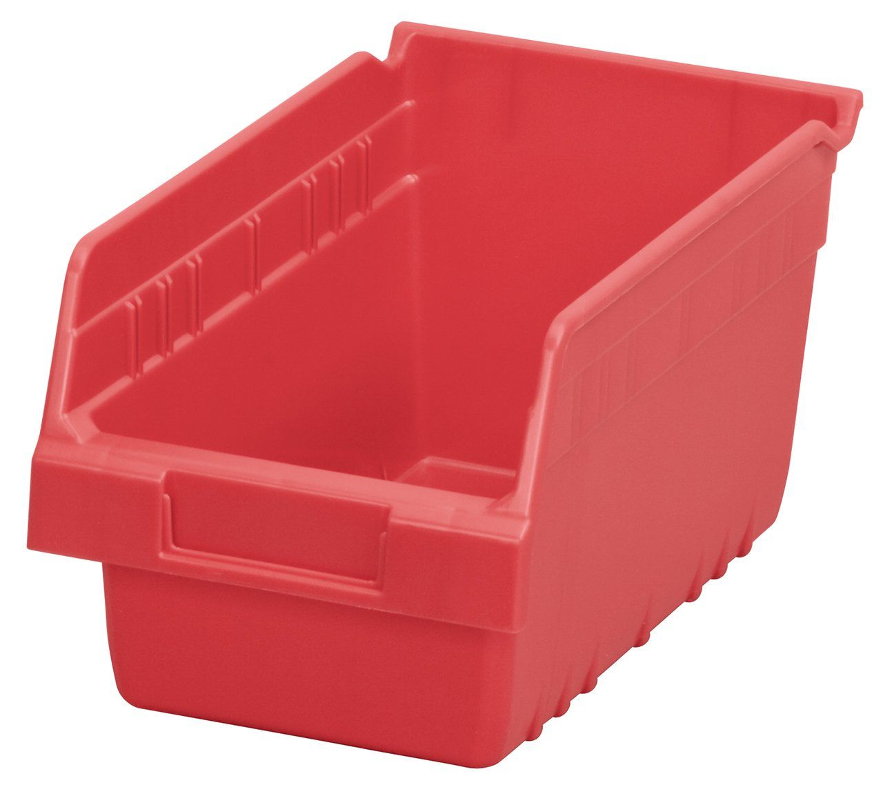 Akro Mils 30090 Shelfmax Plastic Nesting Shelf Bin Box 12 Inch Length X 6 Inch Width X 6 Inch Height Case Of 10 Red Clic Shelf Bins Bins Vertical Storage