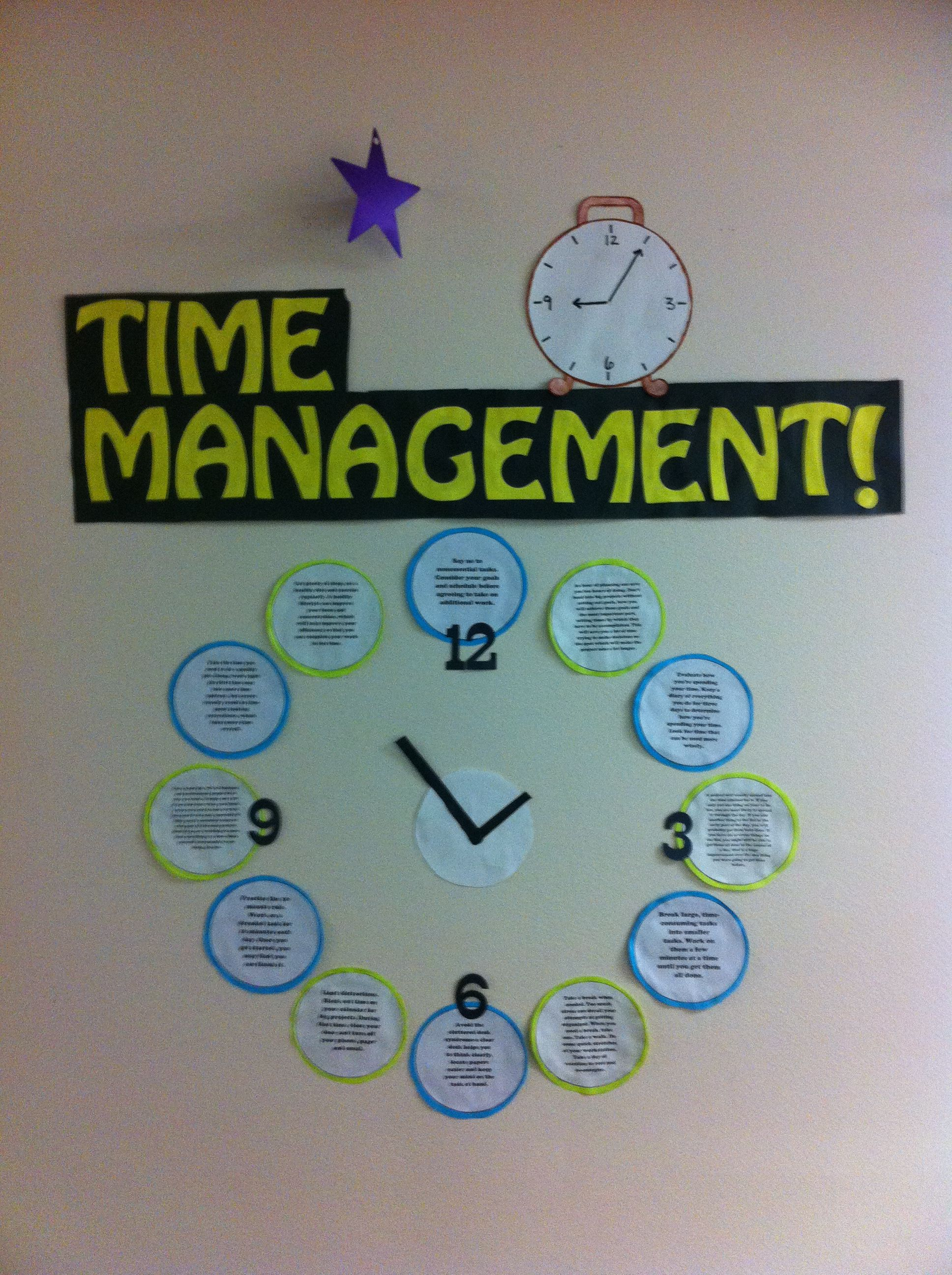 Time Management Bulletin Board I Like The Idea Of Making It A