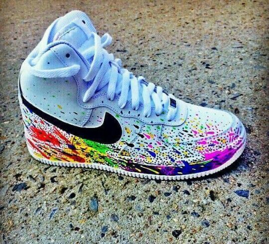 nike paint drip shoes
