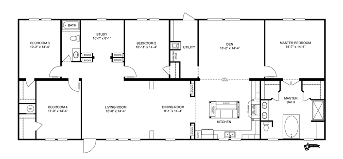 Clayton Homes The Buccaneer Limited Modular Home Plans Mobile Home Floor Plans House Floor Plans