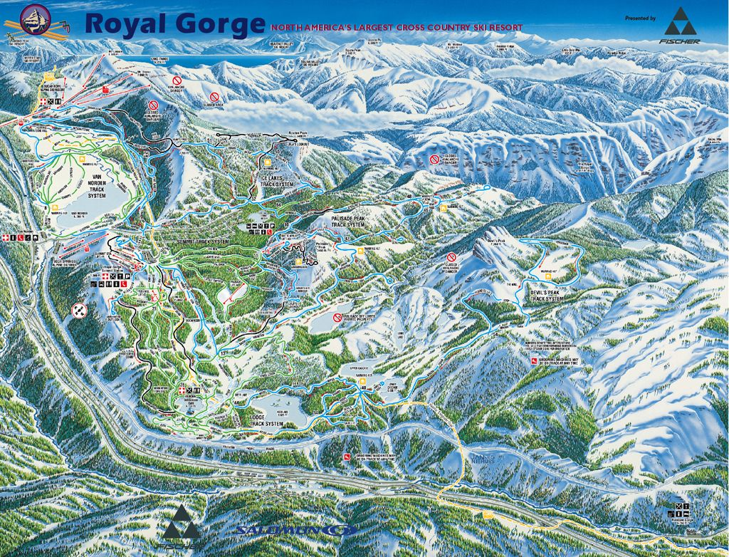Royal Gorge Cross Country Ski Resort Map