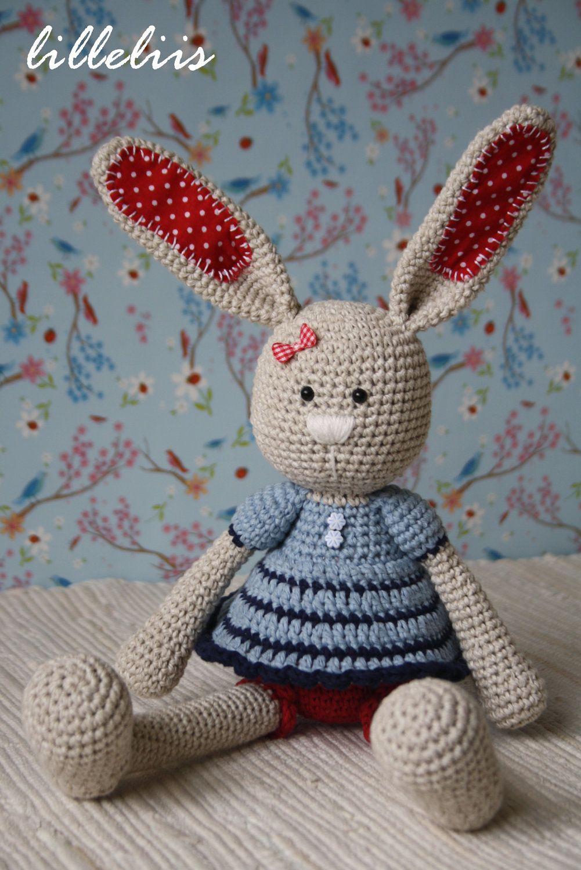 Amigurumi Conejo Kawaii : Quot frillypants bunny crochet amigurumi toy by lilleliis