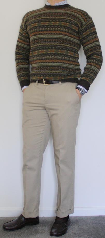 John Ashford Fair Isle sweater- Brooks Brothers James Tattersall ...