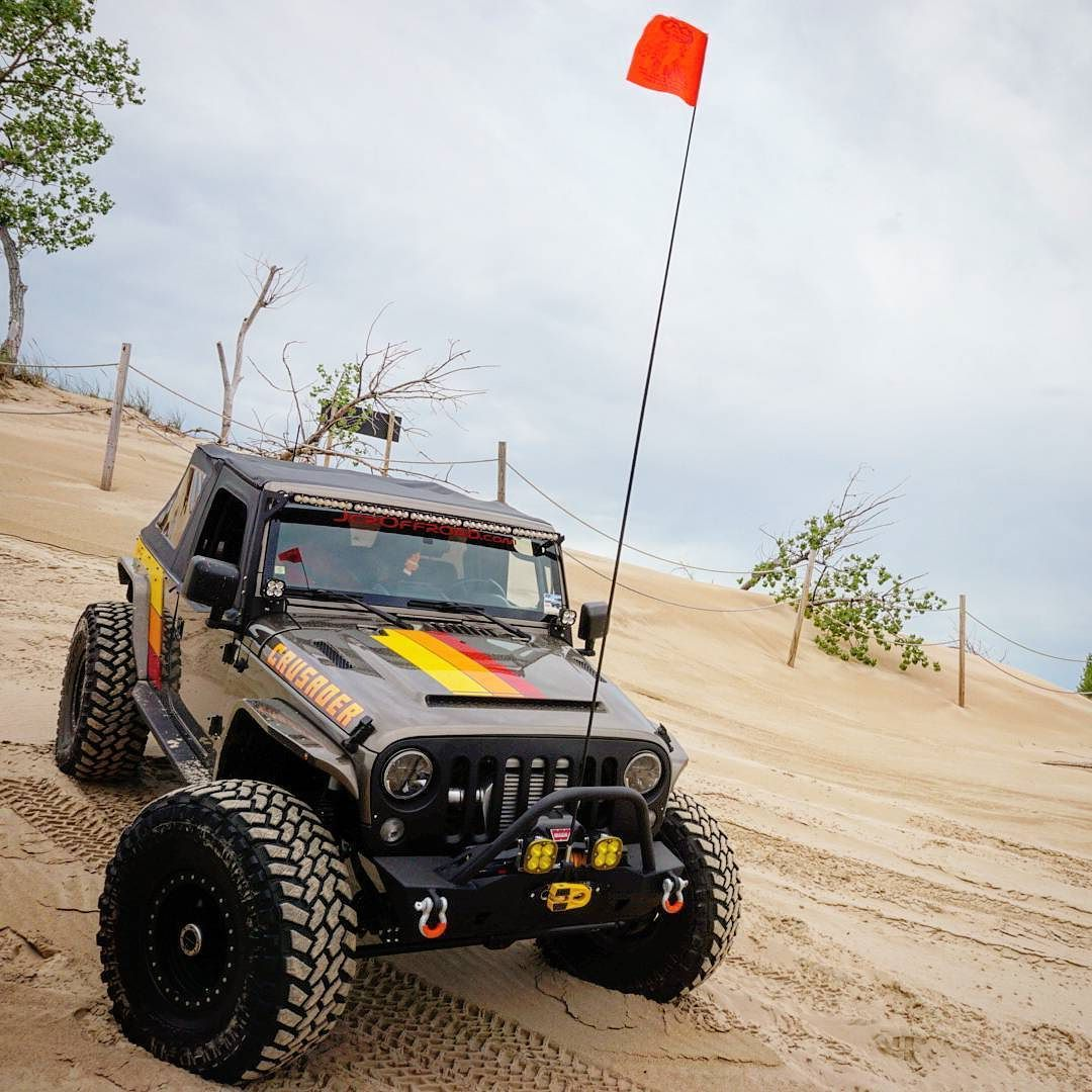 Projectcrusader Posing At The Silver Lake Sand Dunes Jeep Invasion Slsdjeepinvasion Builtforwhatever Jeep Wrangler Lifted Jeep Life Jeep Wrangler Unlimited